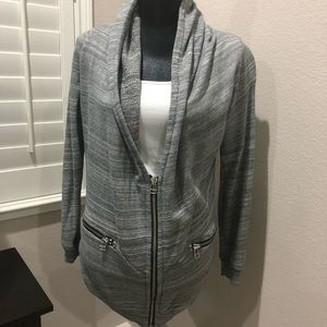 Aritzia Wilfred free gray cardigan sweater